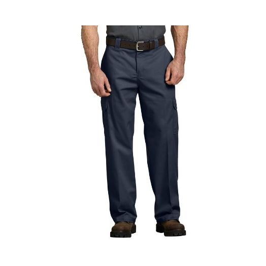 Dickies FLEX Relaxed Fit Straight Leg Cargo Pant in Dark Navy